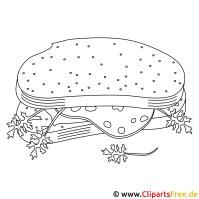 Brot Vorlage zum Ausmalen