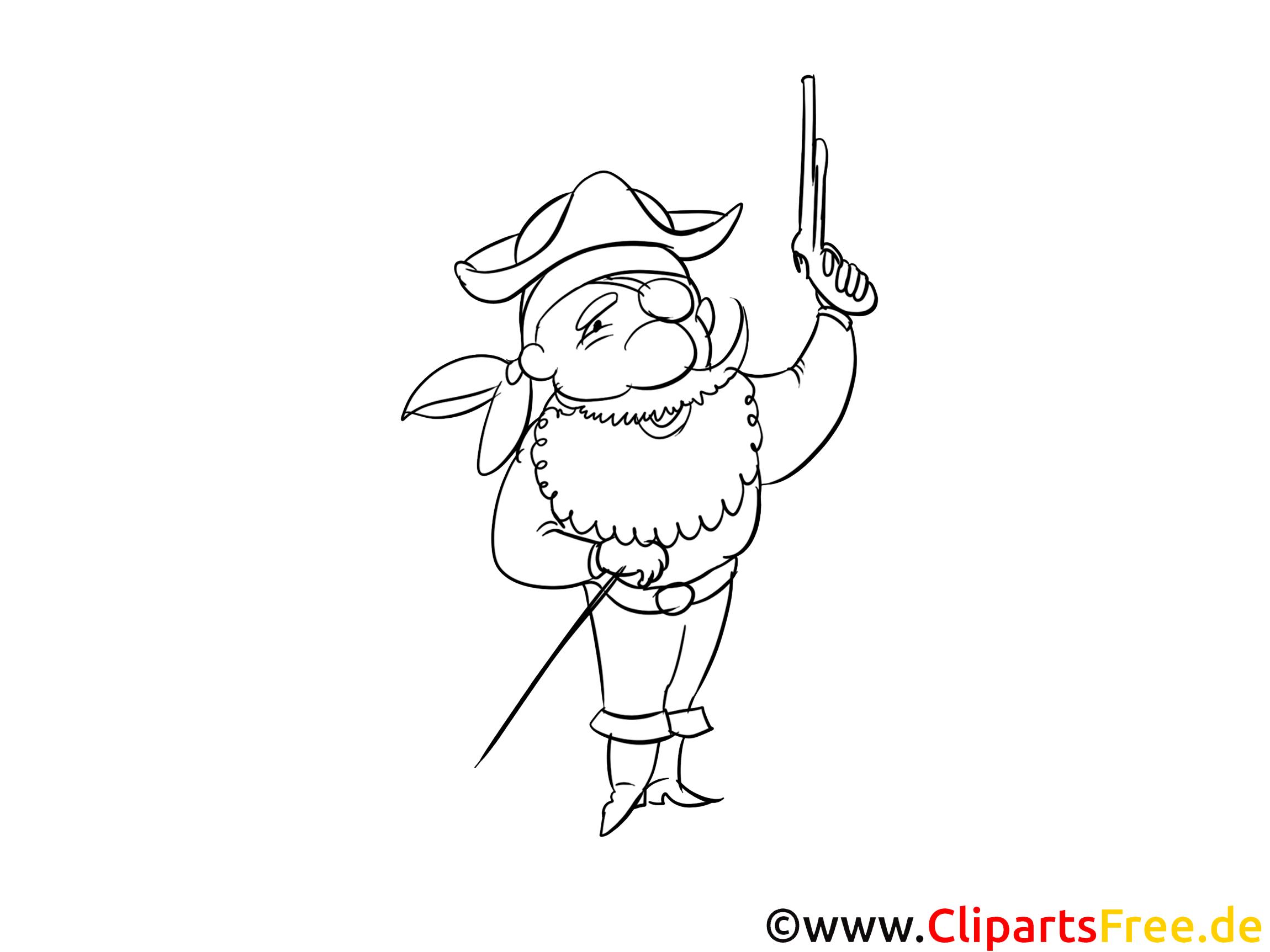 Pirat Ausmalbild