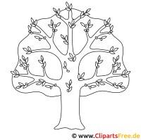 Baum Bild zum Ausmalen, Malvorlage