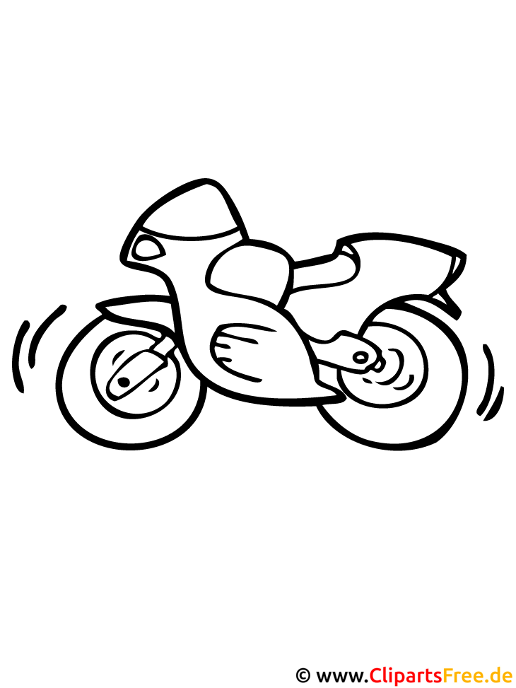 Motorrad Malvorlage