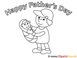 Vatertag Bild zum Ausmalen gratis