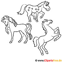 78+ Pferde Ausmalbilder kostenlos zum Ausdrucken