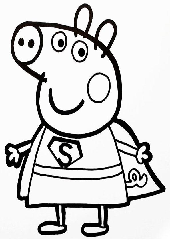 Peppa Pig-12 Malvorlagen Kostenlos