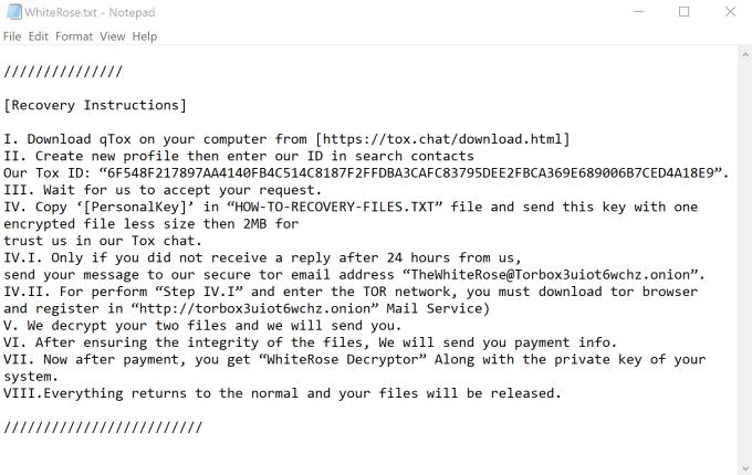 White Rose Virus Instructions