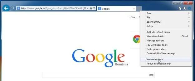 [Immagine: Opzioni Internet in Internet Explorer]