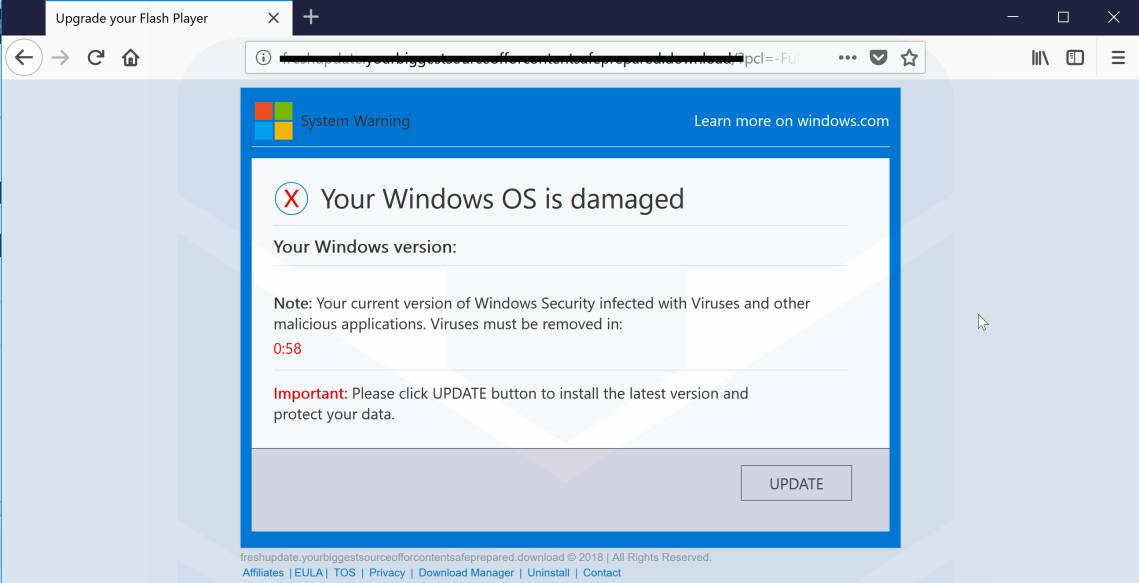 Windows Errors Disable These files may be damaging to your personal computer warning in Windows