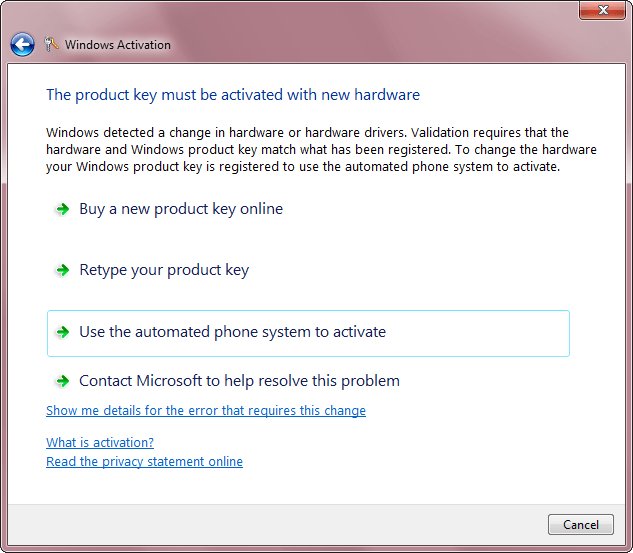 Activate Windows 7 (4/6)