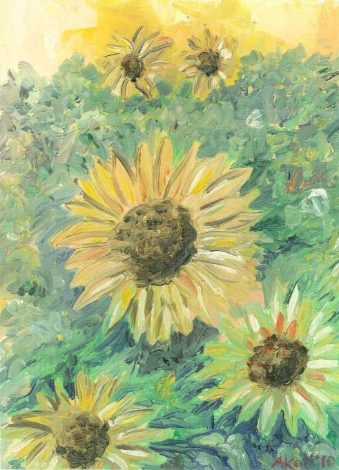 Sunflowers I presume. Flowers. Drawings. Pictures. Drawings ideas ...