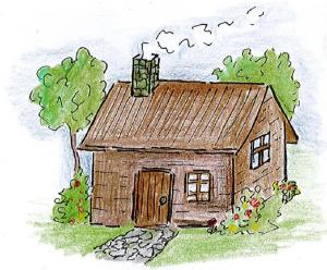 drawing country drawings simple farmers easy cottage childrens farmhouse author