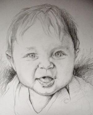 drawings drawing portrait simple pencil easy draw portraits learning author paintingvalley malyunok learn