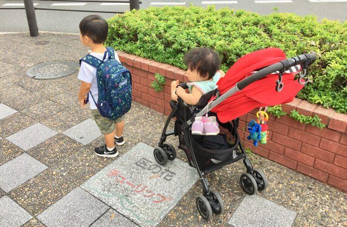 赤ちゃんと電車でお出かけの荷物を減らす 重いママバッグ コンパクトにする 2歳0歳