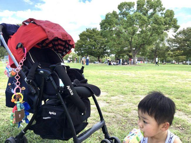 ワンオペ二人目育児の必需品と便利な育児グッズ お出かけの必需品 AB型ベビーカー アップリカ