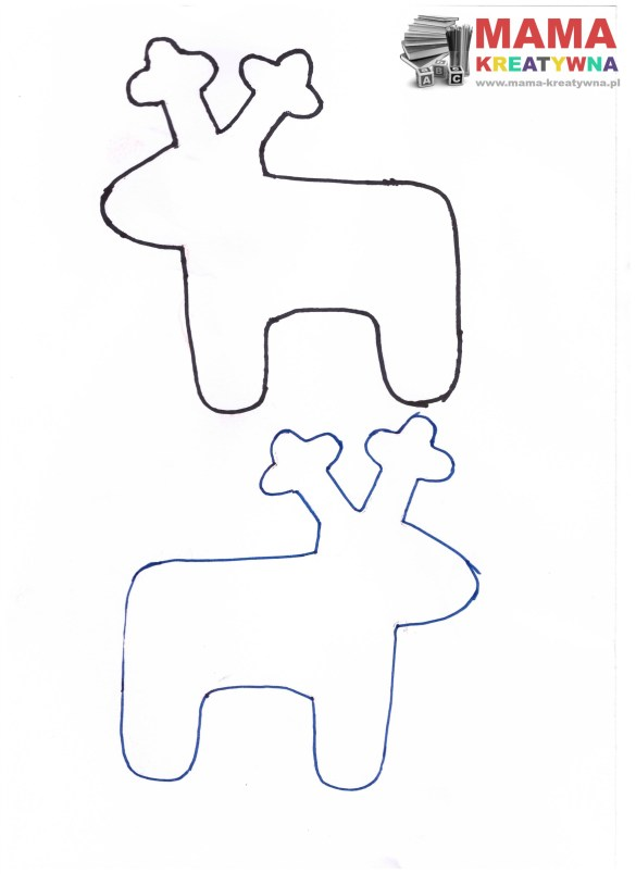 szablon renifer wzór renifer