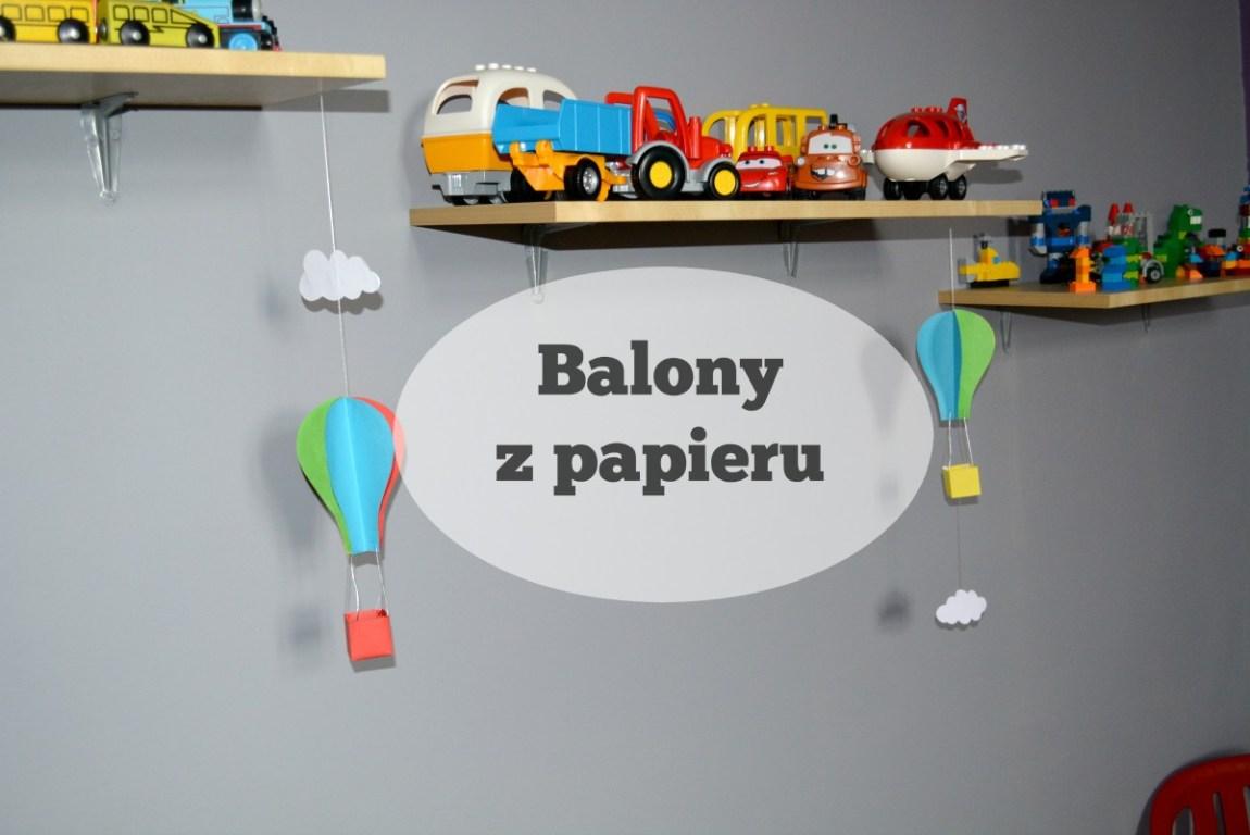 balony z papieru