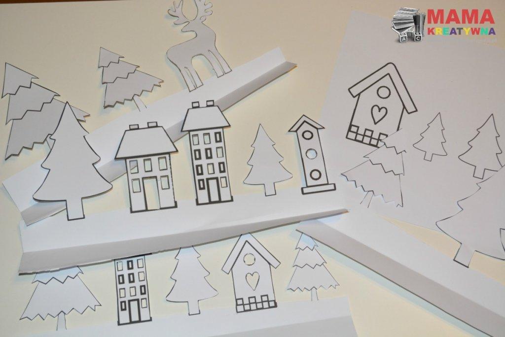 świąteczna dekoracja z papieru