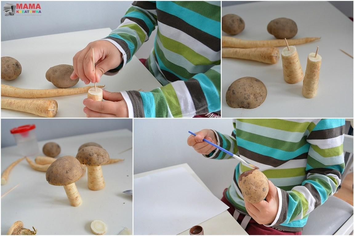 grzyby z ziemniaków i pietruszki