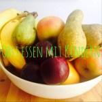 Obst essen mit Kindern