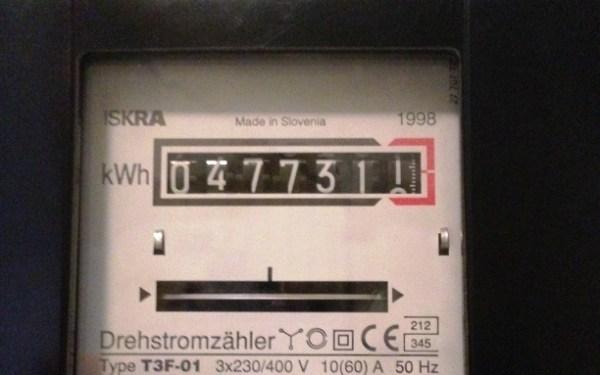 Ansicht Stromzähler