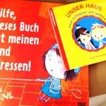 """Neue Kinderbücher: """"Hilfe, dieses Buch hat meinen Hund gefressen!"""" und """"Unser Haus"""""""