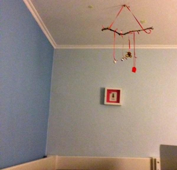 Dreiteiliger Traumfänger in Rot und Schwarz