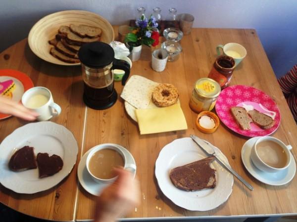 Samstagsfrühstück mit Drückerberger Kaffee