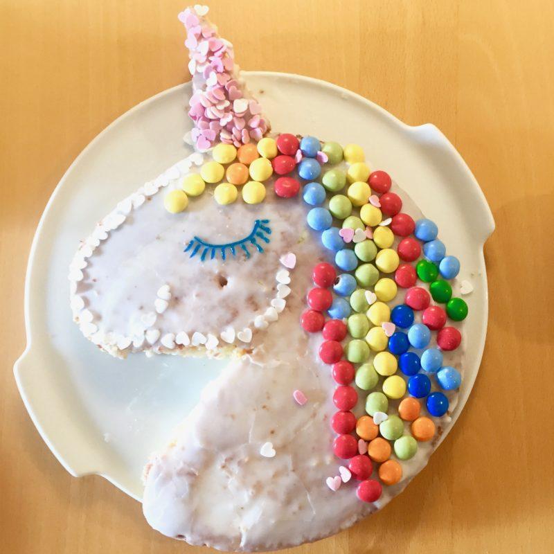 Einhornkuchen fr Faule  ganz einfach und schnell  Familienblog Mama notes