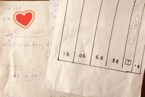 紙に書いたクイズの問題