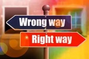 よい方向か間違った方向か