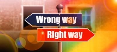よい方向へ進むか間違った方向へ進むか