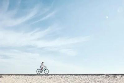 気持ちのいい天気にサイクリング