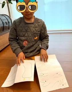 息子が考えた手描きクイズ