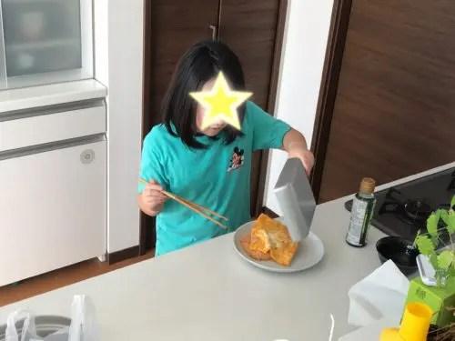 料理を実践で身につけた子供