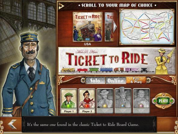 Ticket to Ride: Choose your game settings