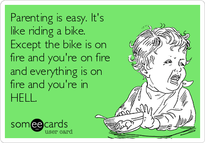 parenting like riding a bike