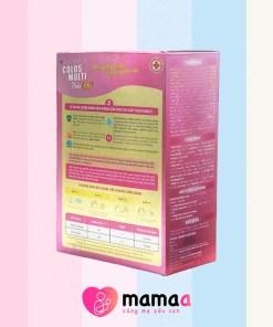 Thông tin trên nhãn của sữa non Colos Multi Pedia Gold