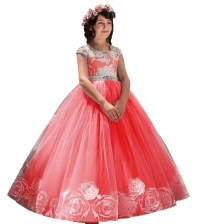 Long Princess Dress for events Red