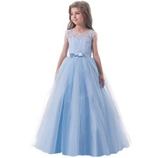 Girl Dress Light Blue Long