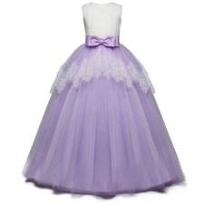 Princess Girl Dress For Event Purple