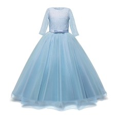 Light Blue Princess long Dress Long