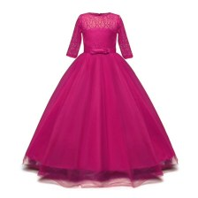 Fuchsia Long Dress for Princess
