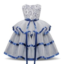 Long sleeves Wedding Dress Blue