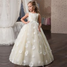 White-beige Princess Dress Long