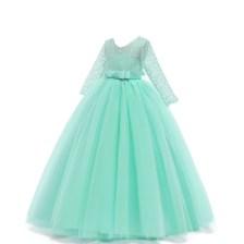 turquoise Princess long Dress Long