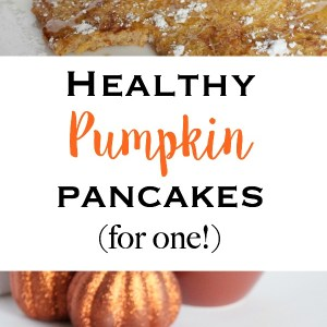 Healthy Pumpkin Pancakes For One - Quick, easy, delicious, and clean eating pancakes made to serve one person! | www.mamabearbliss.com