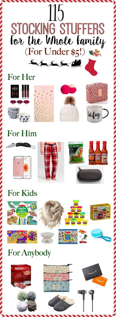 115 stocking stuffers for the whole family for under 5 cheap stocking