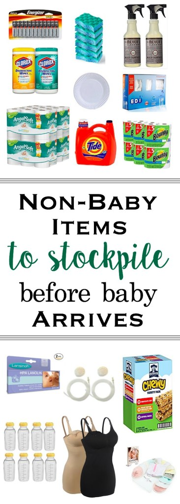 Avoid leaving the house with your newborn baby by stocking up on these household items before your baby's arrival. Newborn   Pregnancy   Preparing for Baby   Motherhood   New Mom