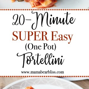 Do you like easy recipes that are equal parts delicious and savory? This tortellini recipe is a great weeknight dinner idea that's both quick and convenient using ingredients in your pantry! | www.mamabearbliss.com #tortellini #tortellinirecipes #easyrecipes #dinnerideas #dinnerrecipes #recipes