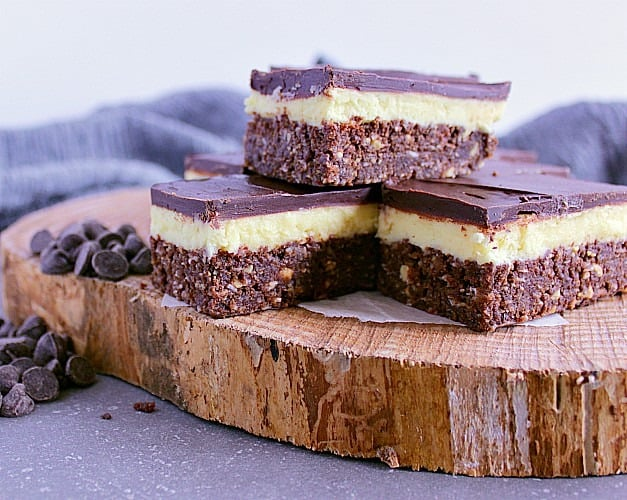 Perfect Nanaimo Bars. Three layers of deliciousness combine to create a bar that's got all the right flavours and textures in one.