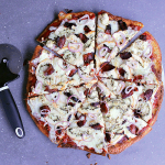 You'll love this delicious keto approved Fathead Pizza using leftover Chicken Pesto Rollup! A delicious new recipe to add to your low carb cook book!