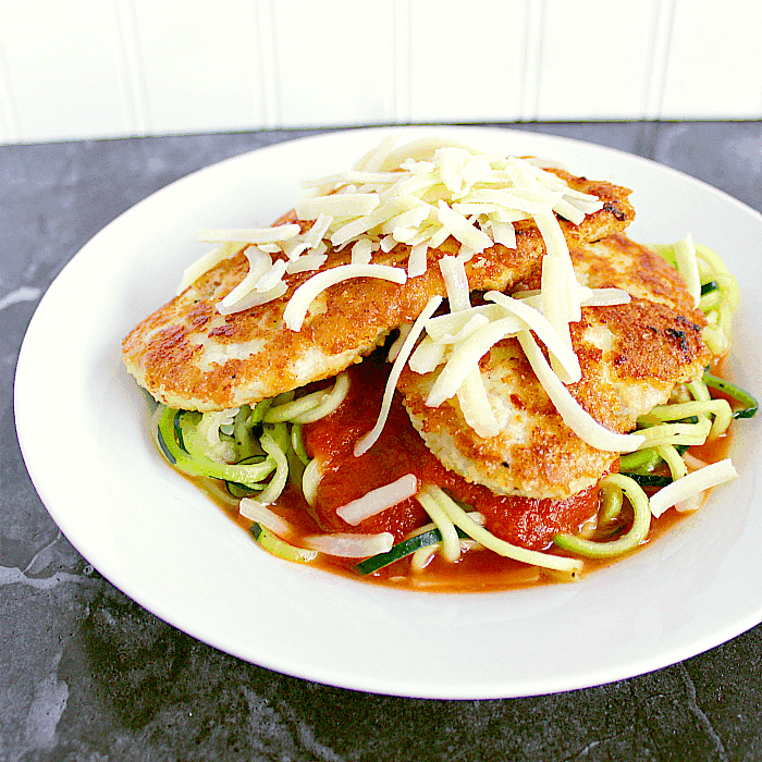 Low Carb Chicken Parmesan With Zoodles Mama Bears Cookbook